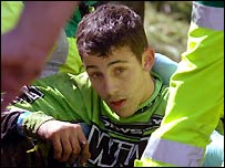 Cheese Rolling competitor Chris Anderson, who was knocked out