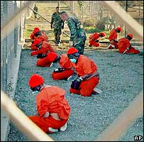 Inmates at Guantanamo Bay detention camp