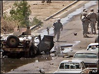Scene of bombing in Baghdad
