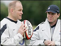 Andy Robinson (left) and new defence coach Mike Ford