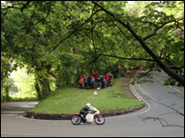 The Ramsey Hairpin on the Isle of Man TT circuit