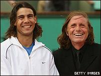 Rafael Nadal y Guillermo Vilas, presente y pasado de una historia.