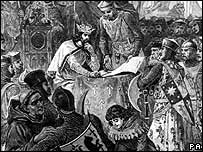 Magna Carta signing illustration