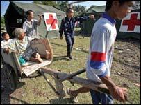 Quake aid in Indonesia