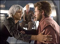 Halle Berry, Patrick Stewart and Hugh Jackman in X-Men: The Last Stand