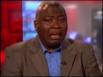 Guy Goma being interviewed on BBC News 24