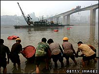 Workers by the Yangtze