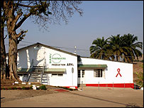 Pharmakina factory making HIV drugs in Bukavu, DR Congo