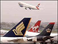 Aviones en Heathrow
