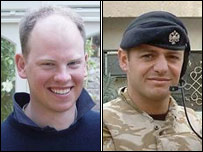 Lt Tom Mildinhall (left) and L/Cpl Paul Farrelly (MoD pictures)