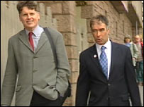 SSP leader Colin Fox and his predecessor Tommy Sheridan