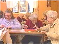 Pensioners at Carmarthen's Myrddin Day Centre