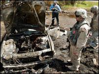 ساحة انفجار في العراق