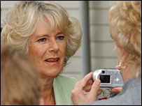 Duchess of Cornwall in Dumfries - picture by Jim McEwan