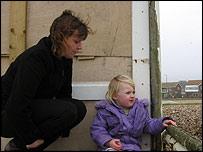 Elaine Churchill and daughter Luisa