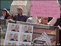 Protesting civil servants in Bethlehem