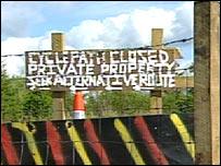 Cyclepath sign