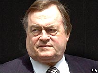 John Prescott leaving Downing Street on 30 May, 2006
