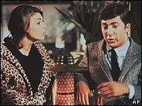 Anne Bancroft and Dustin Hoffman in the 1967 film The Graduate