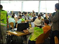 Periodistas brasileños en Weggis, Suiza.