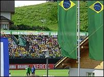 Entrenamiento de Brasil en Weggis, Suiza.