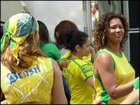 Seguidoras de Brasil en Suiza.