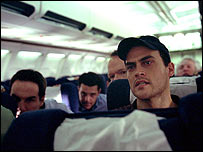 Film still of United 93 showing Corey Johnson (left) as Louis Nacke