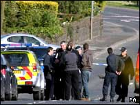 The scene of the shooting in Newtownabbey