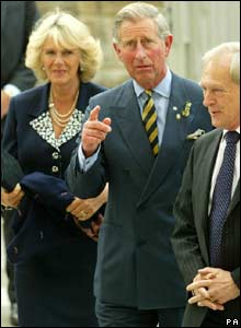 Prince Charles, Camilla and Presiding Officer George Reid
