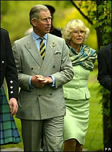 Prince Charles and Camilla walking