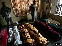 Wrapped bodies of Haditha victims, 21 November                            2005