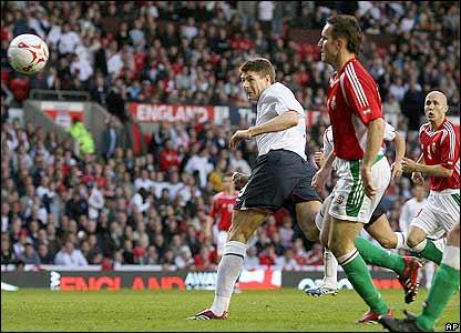 Gerrard heads England ahead