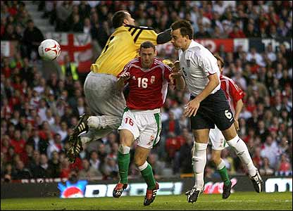 John Terry heads in England's second goal