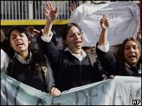 Estudiantes protestan en Chile