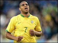 Brazil striker Adriano