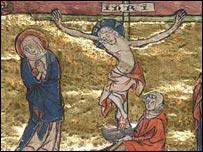 لوحة تمثل قصة  الكأس المقدسة تعود للقرن الرابع عشر