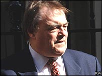 John Prescott in Downing Street on 31 May