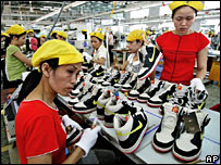 Nike workers in Ho Chi Minh