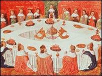مخطوط من لانسيلوت غريل كتبها مايكل غانتيليت-أتمها عام 1470- بي بي سي