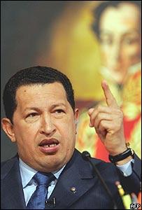 El presidente de Venezuela, Hugo Ch�vez.