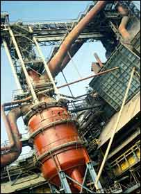 Pakistan Steel mill at Port Mohammad Bin Qasim