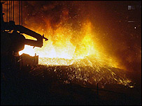 Blast furnace at Pakistan Steel complex
