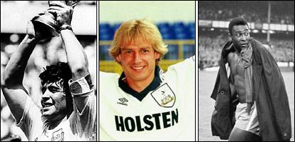 Maradona, Klinsmann y Pelé