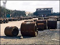 Part of Pakistan Steel complex