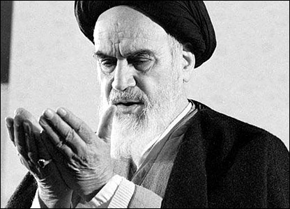 Ayatollah Ruhollah Khomeini praying