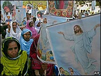Christian demonstration in Karachi