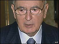 Italian President Giorgio Napolitano (file picture)