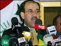 Iraqi Prime Minister Nouri Maliki in Basra