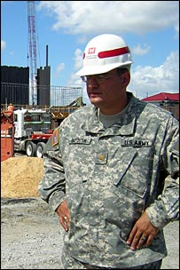 Maj Edward Bayouth of the Army Corps of Engineers