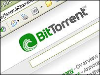 BitTorrent screen